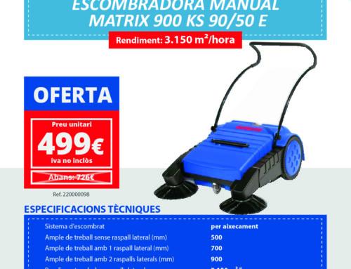 Oferta Escombradora manual Matrix 900 KS 90/50E