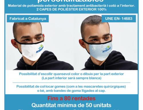 Mascarillas Filtración al 93%  personalizables