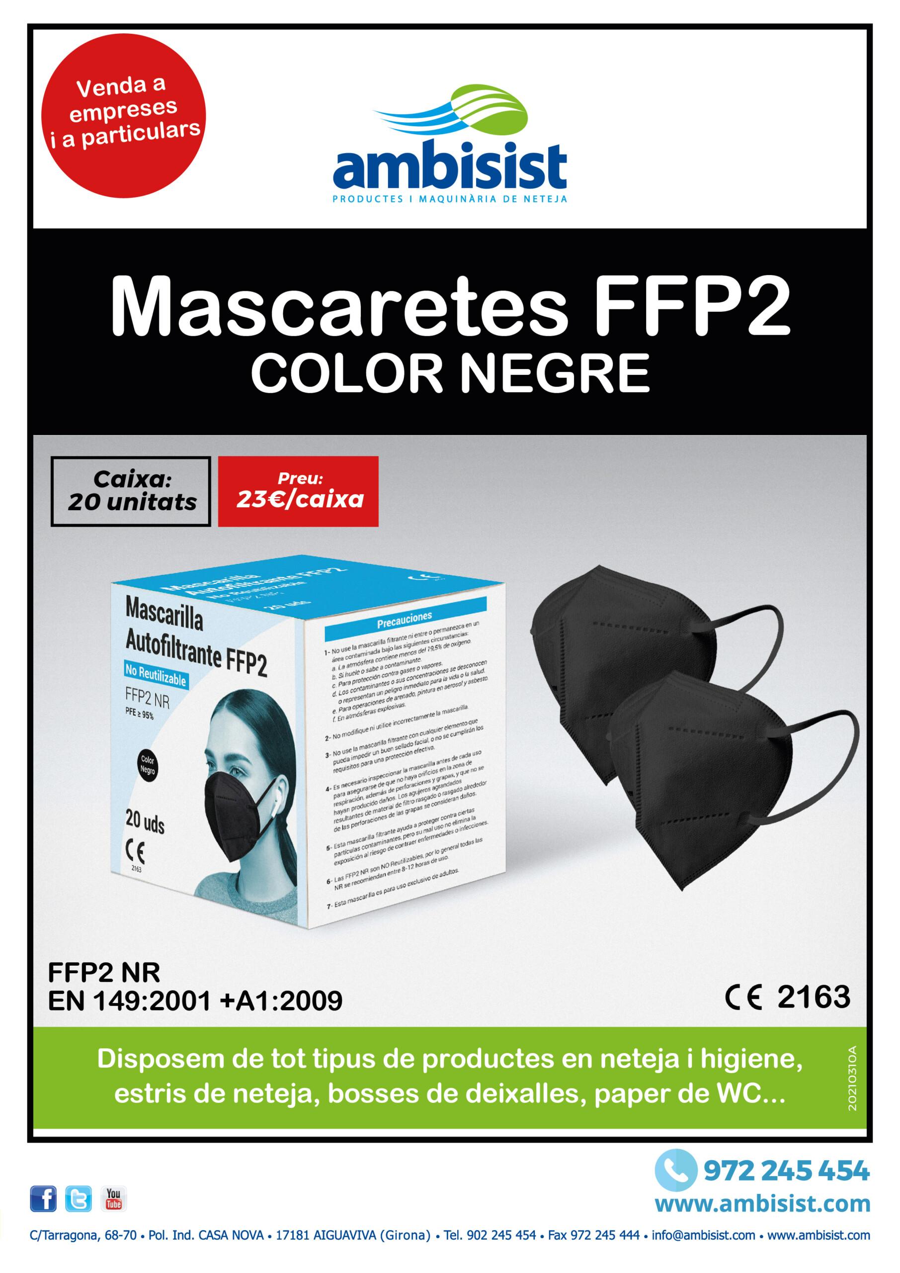 Mascarillas FFP2 Negra